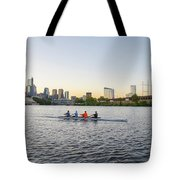 City Skyline - Philadelphia On The Schuylkill River Tote Bag