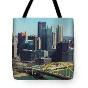 City Skyline-pittsburg Tote Bag