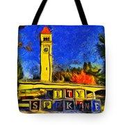 City Spokane - Riverfront Park Tote Bag