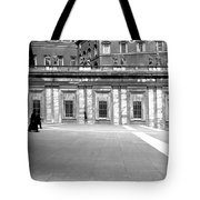 City Square Vintage Black And White  Tote Bag