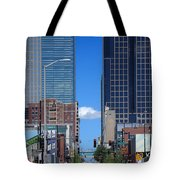 City Street Canyon Tote Bag