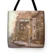 City Streets In Grunge 2 Tote Bag
