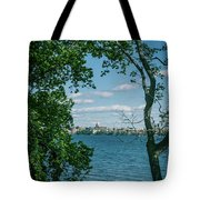 City Through The Trees Tote Bag