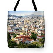 City View Of Old Buildings In Athens, Greece Tote Bag