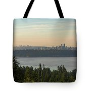 City View Of Vancouver And Burnaby Bc Tote Bag