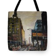 City With Barrels Tote Bag