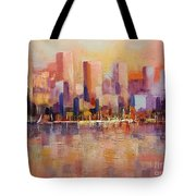 Cityscape 2 Tote Bag by Rosario Piazza