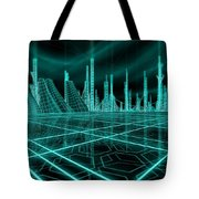 Cityscape 2010 Alpha Tote Bag by James Christopher Hill