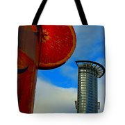 Cityscape Of Frankfurt. Tote Bag
