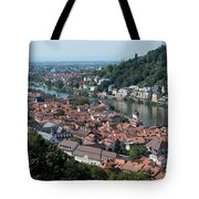 Cityscape  Of Heidelberg In Germany Tote Bag