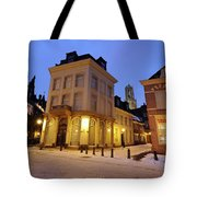 Cityscape Of Utrecht In The Evening At Pausdam 5 Tote Bag