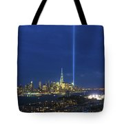 Cityscape Tribute In Lights Nyc Tote Bag