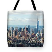 Cityscape View Of Manhattan, New York City. Tote Bag