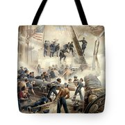 Civil War Naval Battle Tote Bag