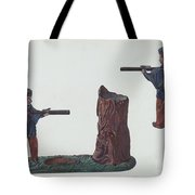 Civil War Soldier & Tree Trunk Bank Tote Bag