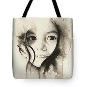 Claire Black And White Tote Bag