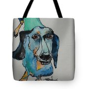 Claire In Blue Tote Bag