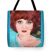 Clara On Black And Gold Tote Bag