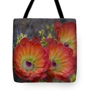 Claret Cup Cactus - Three Of A Kind  Tote Bag