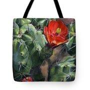 Claret Up Cactus Tote Bag
