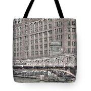 Clark Street Bridge Tote Bag