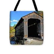Clark's Trading Post Railroad Covered Bridge Tote Bag