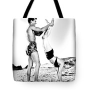 Clash By Night With Marilyn Monroe Tote Bag