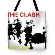Clash White Riot  Tote Bag