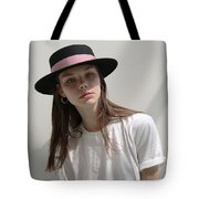 Classic Boater Hat Tote Bag