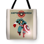 Classic Captain America Tote Bag by Mista Perez Cartoon Art