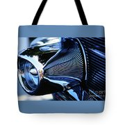 Classic Car Chrome Abstract Reflected Grill Tote Bag