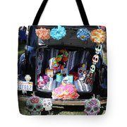 Classic Car Day Of Dead Decor Trunk Tote Bag