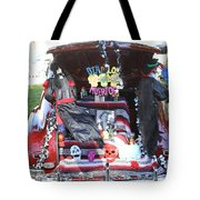 Classic Car Decor Day Of The Dead  Tote Bag