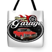 Classic Car Garage With Gto Tote Bag