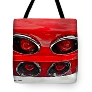 Classic Car Tail Lights Reflection Tote Bag
