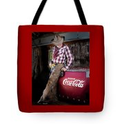 Classic Coca-cola Cowboy Tote Bag by James Sage