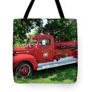 Classic Fire Truck Tote Bag