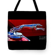 Classic Ford Greyhound Hood Ornament Tote Bag