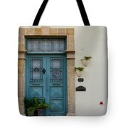 Classic House Entrance In Old Nicosia Tote Bag