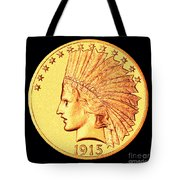 Classic Indian Head Gold Tote Bag