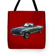 Classic Mercedes Benz 280 Sl Convertible Automobile Tote Bag