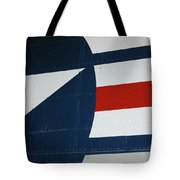 Classic Military Aircraft Abstract- Star 5 Tote Bag
