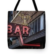 Classic Neon Sign For A Bar Livingston Montana Tote Bag