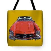 Classic Red Mercedes Benz 300 Sl Convertible Sportscar  Tote Bag