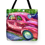 Classic Red Vintage Car Tote Bag