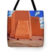 Classic View Of Ranchos Church As Oil Tote Bag