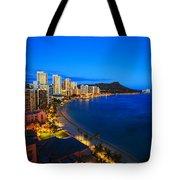 Classic Waikiki Nightime Tote Bag
