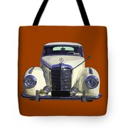 Classic White Mercedes Benz 300  Tote Bag