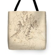 Classical Figures Gathered Around An Urn Tote Bag