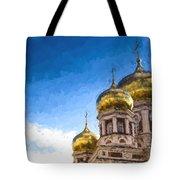 Intercession Cathedral In Saratov Russia Tote Bag